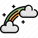 celebration, cloud, patrick, rainbow, saint patricks day icon