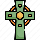 catholic, celebration, christian, cross, patrick, religion, saint patricks day icon