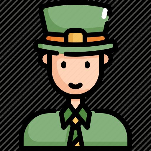 avatar, celebration, man, patrick, saint patricks day icon