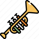 instrument, music, play, sound, trumpet icon