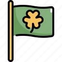 celebration, clover, flag, patrick, saint patricks day, shamrock icon