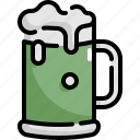 alcohol, beer, beverage, drink, glass, patrick, saint patricks day