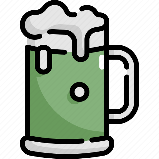 alcohol, beer, beverage, drink, glass, patrick, saint patricks day icon
