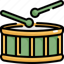 drum, instrument, multimedia, music, play icon