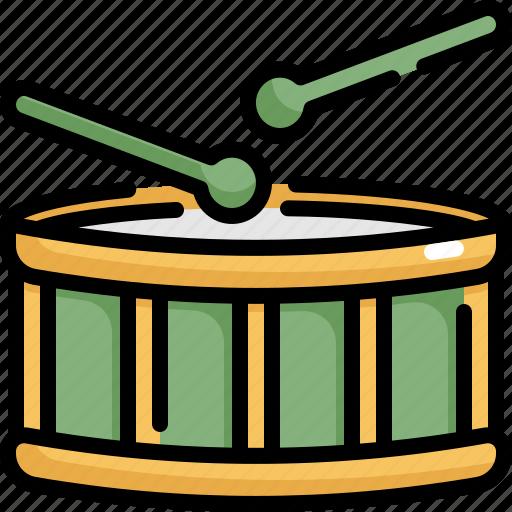drum, instrument, multimedia, music, play icon