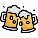 alcohol, beer, beverage, cup, drink, glass icon