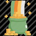 celebration, coin, gold, patrick, pot, rainbow, saint patricks day icon