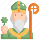 celebration, patrick, priest, saint patricks day icon