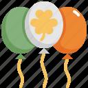 balloon, celebration, clover, party, patrick, saint patricks day icon