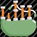 bagpipe, instrument, irish, music, play icon