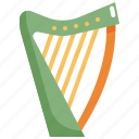 harp, instrument, music, play icon