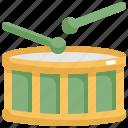 drum, instrument, music, play icon