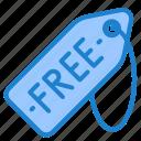 free, label, price, shopping, tag