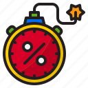 bomb, clock, discount, shopping, time
