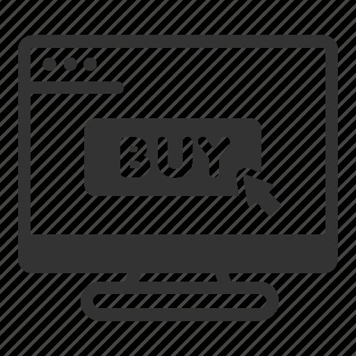 buy, click, online, sales, shop icon