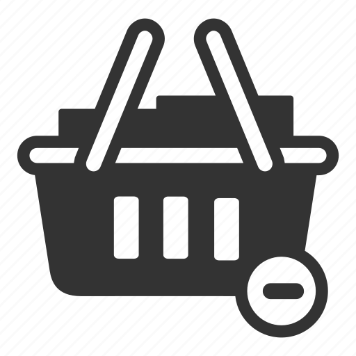 basket, cart, from, online, remove, sales, shop icon