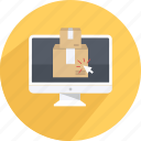 box, delivery, fast, handling, package, shipping, shopping icon