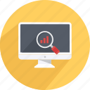 analytics, report analyze, view report, view results, view statistics icon