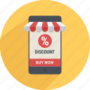 cart, discount, mobile, product, store, supermarket icon