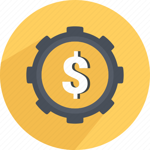 money, settings, shopping icon