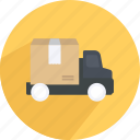 box, delivery, package, shopping, truck icon