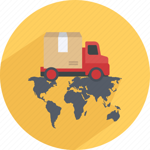 Buy, delivery, map, pay, shopping, truck, world icon - Download on Iconfinder