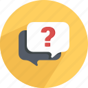 bubble, chat, conversation, dialog, question, sale, speech icon
