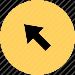 arrow, click, online, web icon