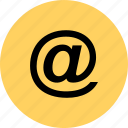 at, email, lcontact, sign icon