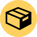 box, ecommerce, ship, web icon