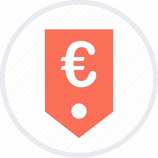 euro, money, sales, shopping, sign, tag icon