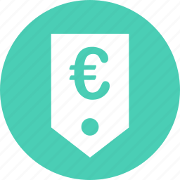 ecommerce, euro, money, tag, web icon