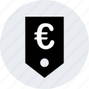 euro, online, pay, payment, price, tag icon