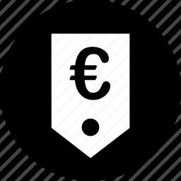 ecommerce, euro, price, tag, web icon