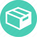 box, goods, merchandise, ship, shipping icon
