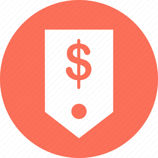 dollar, ecommerce, money, sign, tag, web icon