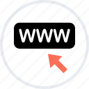 arrow, click, mouse, online, web, www icon