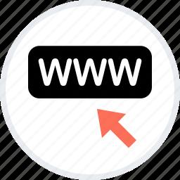 arrow, click, mouse, online, web, www icon