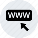 arrow, click, ecommerce, web, www icon