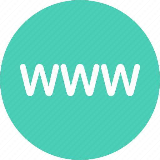 click, online, us, visit, www icon
