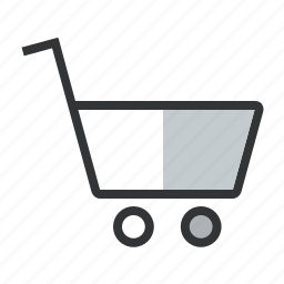 buy, cart, items, line, price, purchase, shopping, trolley icon