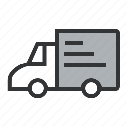 cargo, delivery, distribution, express, line, logistics, lorry, shipping, transit, transportation, van icon
