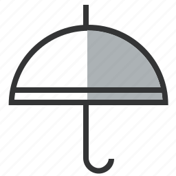defense, insurance, line, protection, rainy, safe, umbrella icon