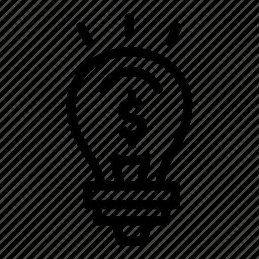 idea, marketing, money, sales icon
