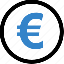 coin, euro, money, sign icon
