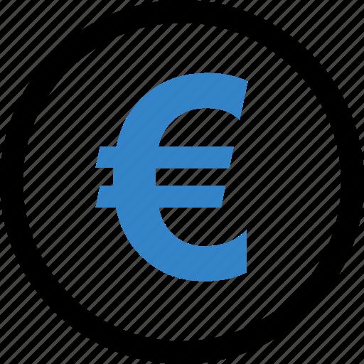 coin, euro, money, sign icon