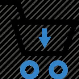 arrow, dollar, down, sign icon
