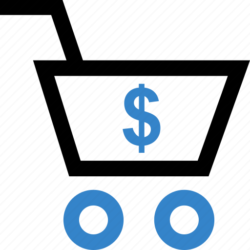 cart, dollar, shopping, sign icon