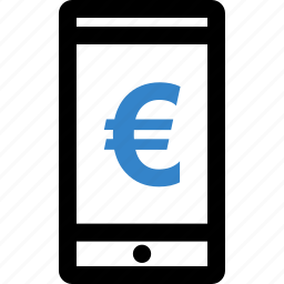 call, euro, money, online, sign, wealth icon
