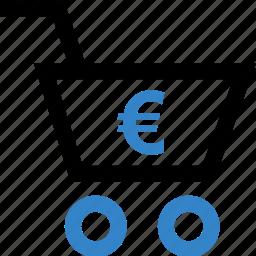 euro, shop, shopping, sign icon